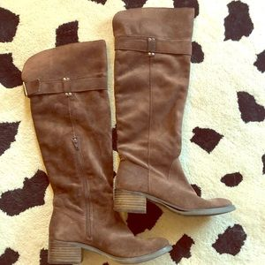Arturo Chiang chocolate brown suede slouchy boots